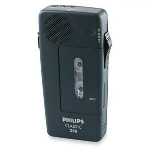 Philips Lfh0388 Professional Pocket Memo Dictation Recorder Black