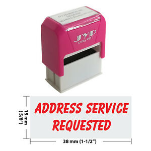 Address Service Requested Jyp 4911r 11 Self Inking Rubber Stamp red Ink