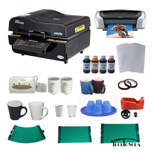 3d Sublimation Vacuum Machine Mug Printer Ciss Paper Business Bundle