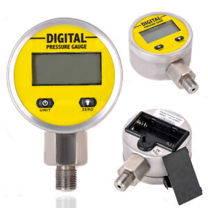 Digital Hydraulic Pressure Gauge 0 250bar 25mpa 3600psi Protection Ip65 Npt 1 4