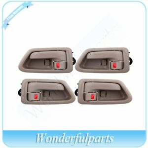 For 97 01 Toyota Camry 4pcs Door Handles Inside Interior Right Left Front Rear