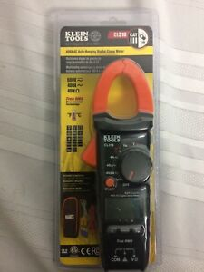 Klein Tools 400 Amp Ac dc Vol True Rms Auto ranging Digital Clamp Multimeter Kit