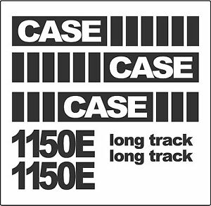 Reproduction Case Dozer Crawler 1150e Long Track Sticker Decal Kit Decals Usa