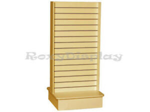 Slatwall Unit Tower Maple Knock Down Display Store Fixture sc swt m
