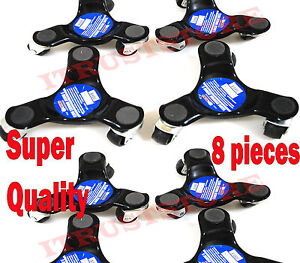 8 Pc Three 3 Wheel Mover Dolly Cart Caster Moving Furniture Roller Platform