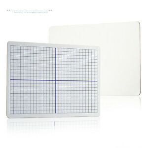 Dry Erase Board Xy Axis Graphing Math Grid Learning Student Lap 12 Pc Set New