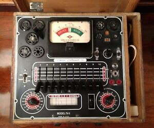 Superior Radio Tube Tester Model tv 11 W Wooden Box Parts Repair Restoration Vtg