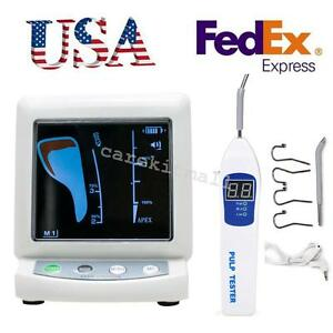 Pulp Tester Testing Oral Teeth Nerve W 4 Hooks Dental Apex Locator Root Canal
