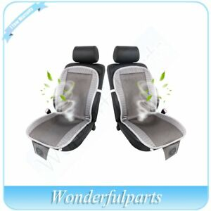 2xdark Gray Ac Condition Auto Chair For Cooler Car Seat Cooling Cushion Cover