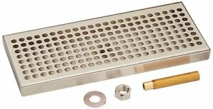 Kegco 12 Beer Drip Tray Stainless Steel Surface Mount With Drain New