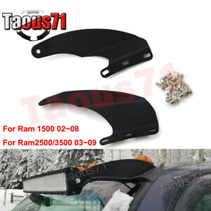 Fit Dodge Ram 1500 2500 3500 Roof 52 Inch Curved Led Light Bar Mount Brackets