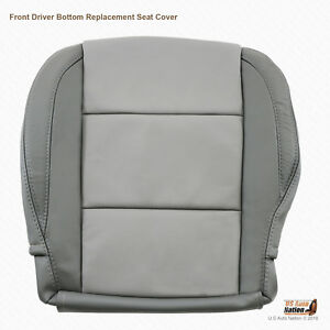 2005 To 2015 Front Driver Bottom Leather Seat Cover For Nissan Titan 2 Tone Gray