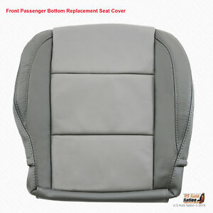 2005 2006 Passenger Side Bottom Leather Seat Cover For Nissan Titan 2 Tone Gray