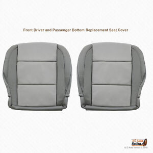2005 2006 Driver Passenger Bottom Leather Cover For Nissan Titan Gray 2tone Gray