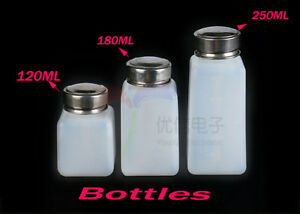 120ml 250ml Empty Plastic Squeezable Liquid Dropper Bottles With Threaded Cap