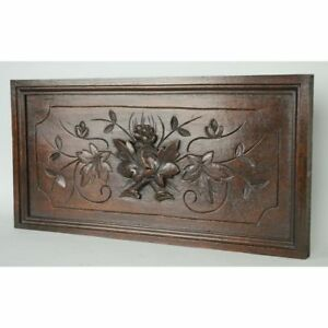 Beautiful Antique Carved Oak French Louis Xiii Hunt Style Panel