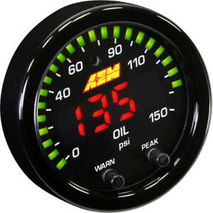 Aem 30 0307 52mm X Series Digital Oil Pressure Gauge 0 150psi