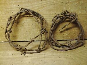 Two Rolls Of Rusty Barb Wire Farm Fresh 8 Ft