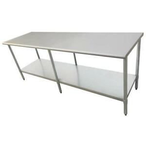 Stainless Steel Work Prep Table 30 X 96 With Undershelf