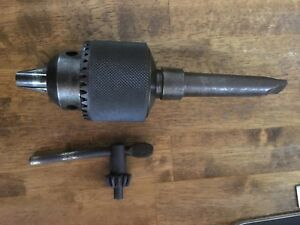 Used Machinist Tools Vintage Jacobs Drill Chuck 18 1 16 3 4 Mt 3 Lathe mill