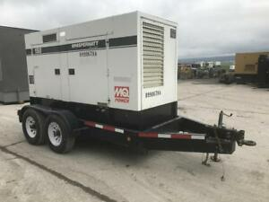 _150 Kva Multiquip Generator Set Trailer Mounted Selectable Sound Attenuated