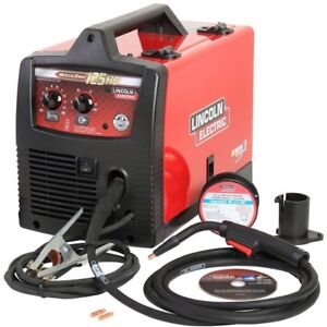 Lincoln Electric Welding Machine 115v 125 Amp Flux cored Wire Magnum 100l Gun