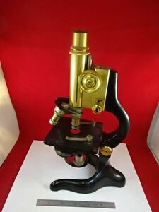 Microscope Antique Brass Ernst Leitz Germany Circa 1907 Optics As Is tc 2