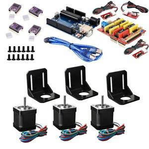 35 Pcs set Diy Stepper Motor With Driver R3 Board Shield Cnc Set Kit For Arduino