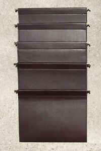 Set Of 5 Leather File Folders Custom Made By Studio Sofield