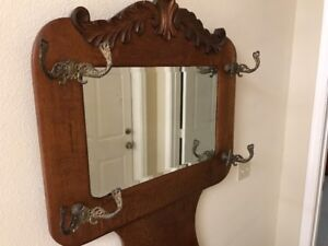 Antique Oak Hall Tree Late 1800 S Its In Excellent Condition