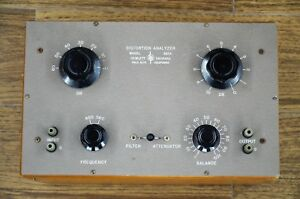 Rare Early Hp 320a Distortion Analyzer
