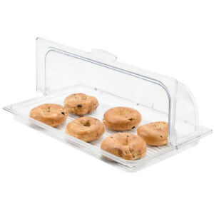 Sample And Display Tray Kit With Clear Polycarbonate Tray And Roll Top Cover