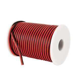 Gauge Electrical Wire Hookup Red Black C able 100ft 18 Awg 12v Dc Wire For