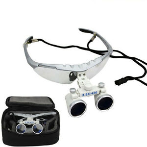 3 5x420mm Dental Binocular Loupes Magnifier Lens Glasses Surgical Titanium ni al