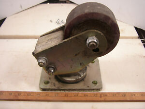 Casters 6000lb Capacity Per Caster Lot Of 4 Casters Used Free Shipping