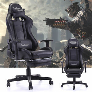 Pc Gaming Ergonomic High Back Office Desk Chair Swivel Chair W lumbar Support
