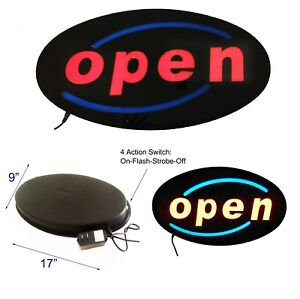 Led Flash Window Sign Open sale bar pizza 17 x9 For Every Retail Business