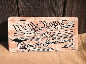 We The People You Government Wholesale Novelty License Plate Bar Wall Decor