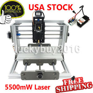 3 Axis 2417 Cnc Router Engraver Mini Diy Desktop Milling Machine 5500mw Laser