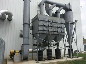Wheelabrator Dust Collector 36 Cartridge 9500 Cfm used