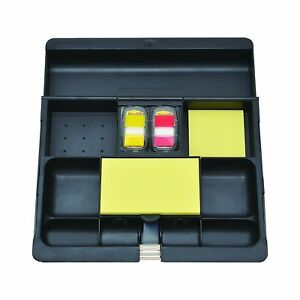 Post it Desk Drawer Organizer 10 1 2 X 11 3 4 X 1 5 8 inches Black