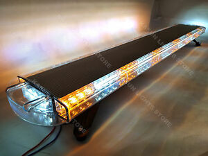 51 96 Led Light Bar Traffic Advisor Emergency Warning Strobe Hazard Amber