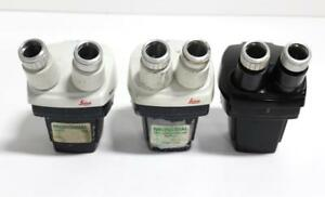 Bausch And Lomb Leica Stereo Microscopes Lot Of 3