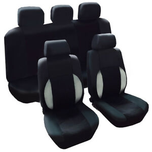 Four Seasons Durable Breathable Pu Leather Black Car Seat Covers For Suv Car Van