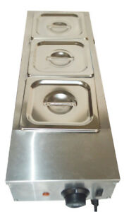 3 pan Chocolate Melter Well Bain Marie Water Heating Tempering Catering Cooking