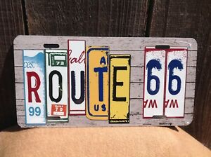 Route 66 Plate Art Wholesale Novelty License Plate Bar Wall Decor