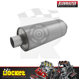Flowmaster Dbx Stainless Steel Round Muffler 2 25 Inlet Outlet Flo12414310