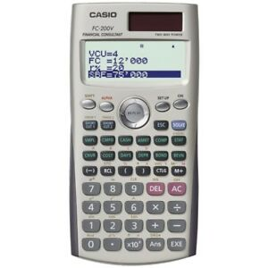 Casio Fc 200v Financial Calculator Dot Matrix Display