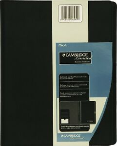 Mead Refillable Business Notebook Cover Business Cardpen Holder 06591 Black New