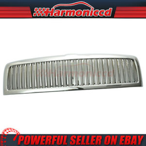 Fits 1994 2002 Dodge Ram 1500 2500 3500 Unpainted Chrome Vertical Grille